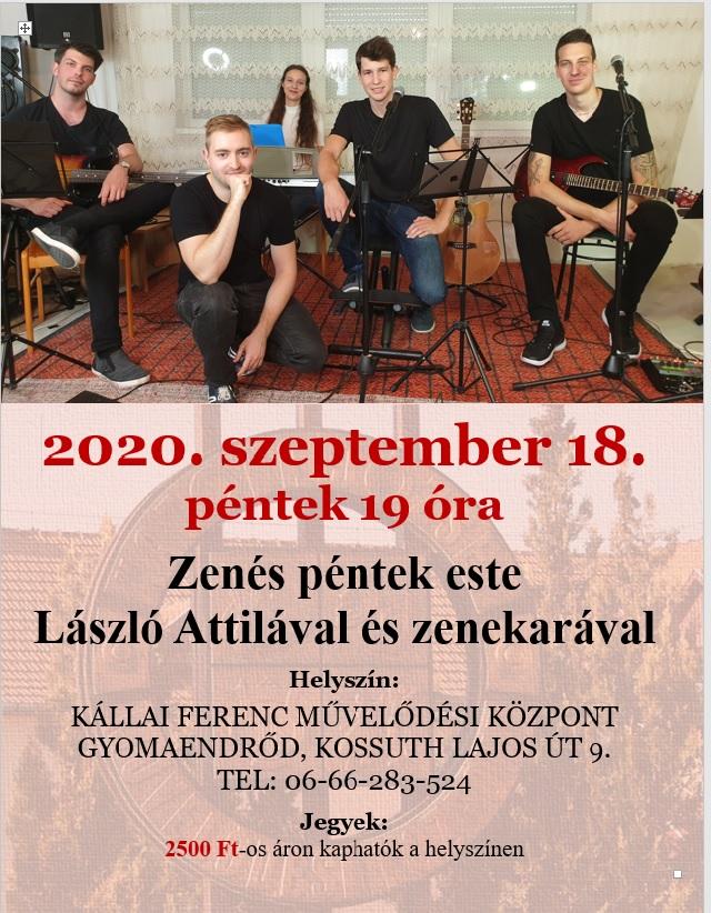 Zenés péntek este László Attila és zenekarával
