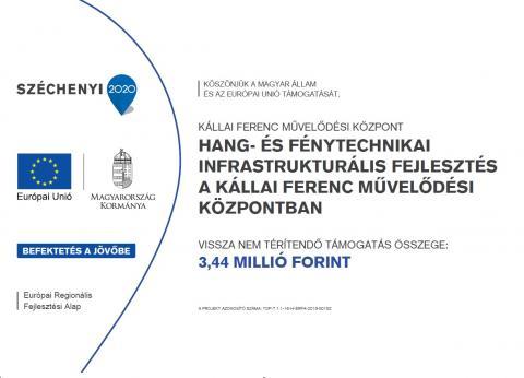 TOP-7.1.1-16-H-ERFA-2019-00152 - Hang és Fénytechnikai infrastrukturális fejlesztés a Kállai Ferenc Kulturális Központban